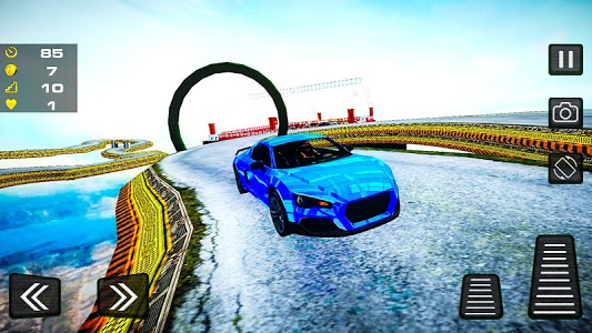 screenshot of Extreme GT Racing Impossible Sky Ramp New Stunts version 1