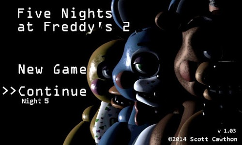 screenshot of Five Nights at Freddy's 2 Demo version 1.07