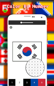 screenshot of Flags Coloring By Number - Pixel version 4.0