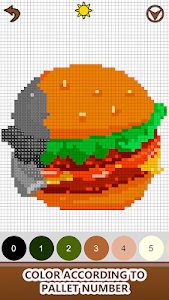 screenshot of Food Color by Number - Pixel Number Draw Coloring version 2.0