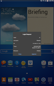 screenshot of FortiToken Mobile version Varies with device