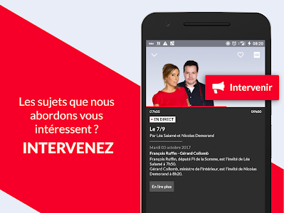 screenshot of France Inter - radio, podcasts version 4.8.6