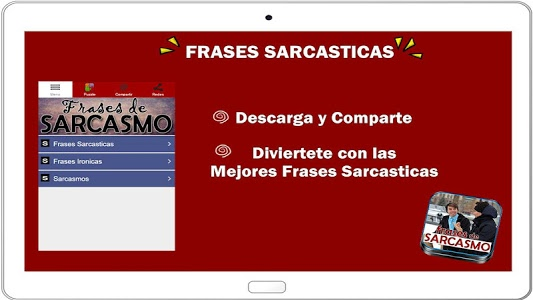 screenshot of Frases Sarcasticas version 1.3