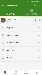 screenshot of Free Ringtones for Android™ version 7.3.9