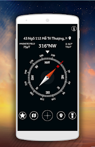 screenshot of GPS Compass for Android: Map & Navigation version 18.86.22