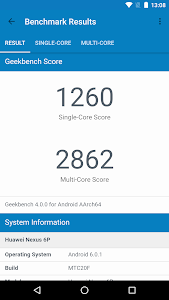 screenshot of Geekbench 4 version 4.3.2