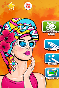 screenshot of Girls games: Painting and coloring version 12.9.0