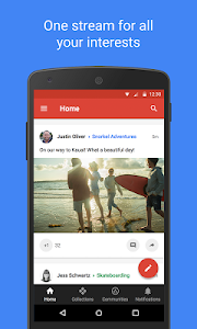 screenshot of Google+ for G Suite version 10.28.0.239896912