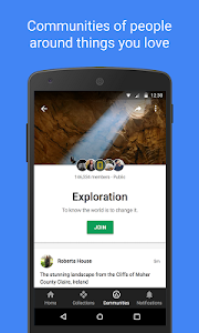 screenshot of Google+ version 10.28.0.239896912