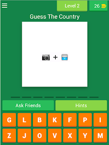 screenshot of Guess The Country By Emoji 2 version 3.1.8z