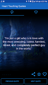 screenshot of Heart Touching Quotes version 62.0
