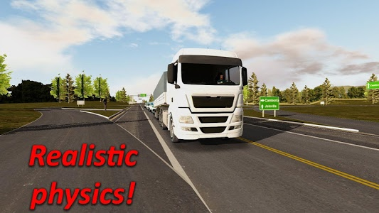 screenshot of Heavy Truck Simulator version 1.70