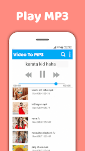screenshot of Mp4 to mp3-Video to mp3-Mp3 video converter version 1.6.0
