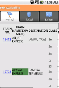 screenshot of Indian Rail Info App version 2.11