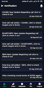 screenshot of Stock Tips (Intraday, Futures, Options, Nifty) version 1.7