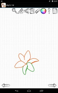 screenshot of Learn to Draw Exotic Flowers version 1.02