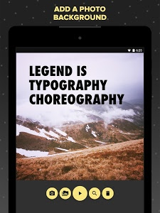 screenshot of Legend - Animate Text in Video version Varies with device