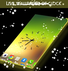 screenshot of Live Wallpaper of Clock version 1.309.1.119