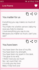 screenshot of Beautiful Romantic Love Poems For Your Beloved version 2.3