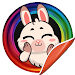 Lovely Rabbits Stickers For Whatsapp - WASticker