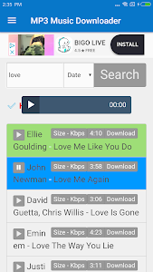 screenshot of MP3 Downloader : HQ-320kbps & Free Music Download version 6.0