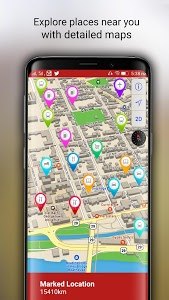 screenshot of Free-GPS, Maps, Navigation, Directions and Traffic version 1.15