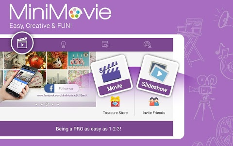 screenshot of MiniMovie-Slideshow Video Edit version 2.5.3.9_160912
