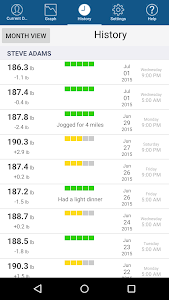 screenshot of Monitor Your Weight version 4.2.1