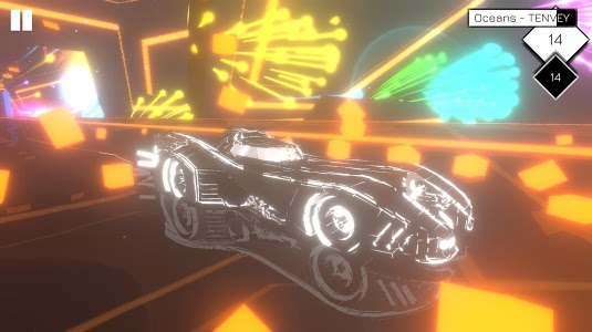 screenshot of Music Racer version 9