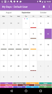 screenshot of My Days - Ovulation Calendar & Period Tracker ™ version Varies with device