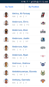 screenshot of NBA app version 7.1028