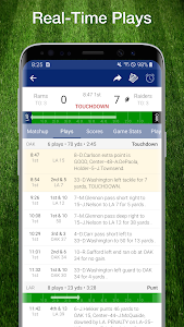 screenshot of Football NFL Live Scores, Stats & Schedules 2019 version 8.5.6