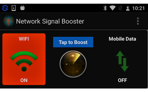 screenshot of Network Signal Booster version 7.4