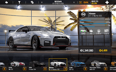 screenshot of Nitro Nation Drag & Drift version 6.5.2