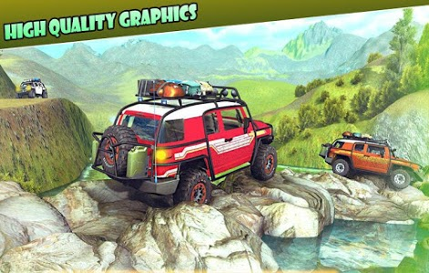 screenshot of OffRoad 4x4 jeep racing game 3D version 1.4