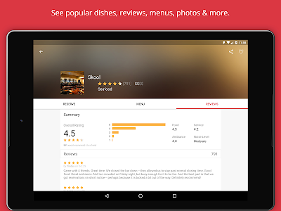 screenshot of OpenTable: Restaurants Near Me version 9.18.1.2142