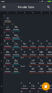 screenshot of Periodic Table 2016 version 0.1.9