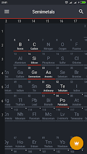 screenshot of Periodic Table 2017 version 0.1.27