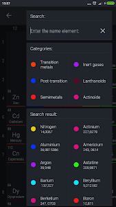 screenshot of Periodic Table 2017 version 0.1.11