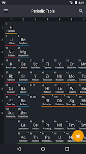 screenshot of Periodic Table 2018 version 0.1.59