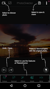 screenshot of PhotoDirector Photo Editor App, Picture Editor Pro version Varies with device