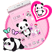 Pink Lovely Panda Theme