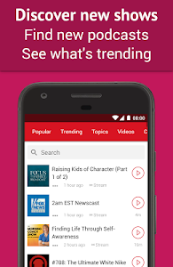 screenshot of Podcast App: Free & Offline Podcasts by Player FM version 4.2.0.49