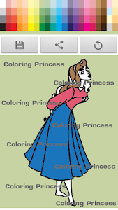screenshot of Princess coloring kids paint version 1.2