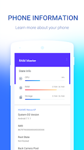 screenshot of RAM Master - Memory Optimizer version 1.1.0