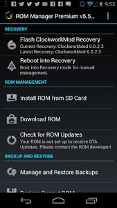screenshot of ROM Manager version 5.5.3.7