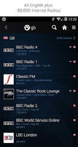 screenshot of Radio Player, MP3-Recorder by Audials version Varies with device