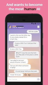 screenshot of Replika version 1.0.84