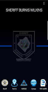 screenshot of Robeson County Sheriff version 1.11.0.0