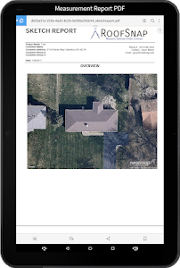 screenshot of RoofSnap version 1.0.985.0